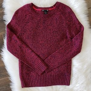 B2G1 H&M Hot Pink/Blue Marled Knit Sweater